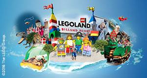 Upplev LEGOLAND®!Upplev fart, action och spänning - LEGOLAND®, Lalandia och Givskud Zoo väntar!