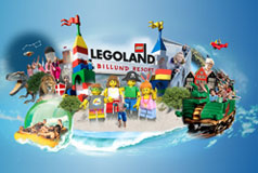 LEGOLAND®Nyd en aktiv miniferie med hele familien i Legoland.