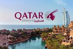 Äventyr med Qatar AirwaysMed Qatar Airways och Sembo kan du besöka exotiska destinationer som Dubai, Nairobi eller Singapore till kampanjpriser!