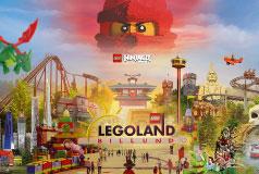 LEGOLAND®Billund ResortJust nu: 2 dagars entré till priset av 1 och barn åker gratis med färjan. LEGOLAND®, Lalandia, Givskud Zoo, vikingarna i Ribe och klätterparkerna väntar.