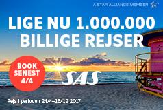1 000 000 billige rejserBenyt lejligheden til at sikre dig billige flybilletter. Book også et hotel, og din ferie er sikret!