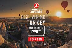 Kampanjpriser med Turkish AirlinesKampanjpriser till spännande resmål.