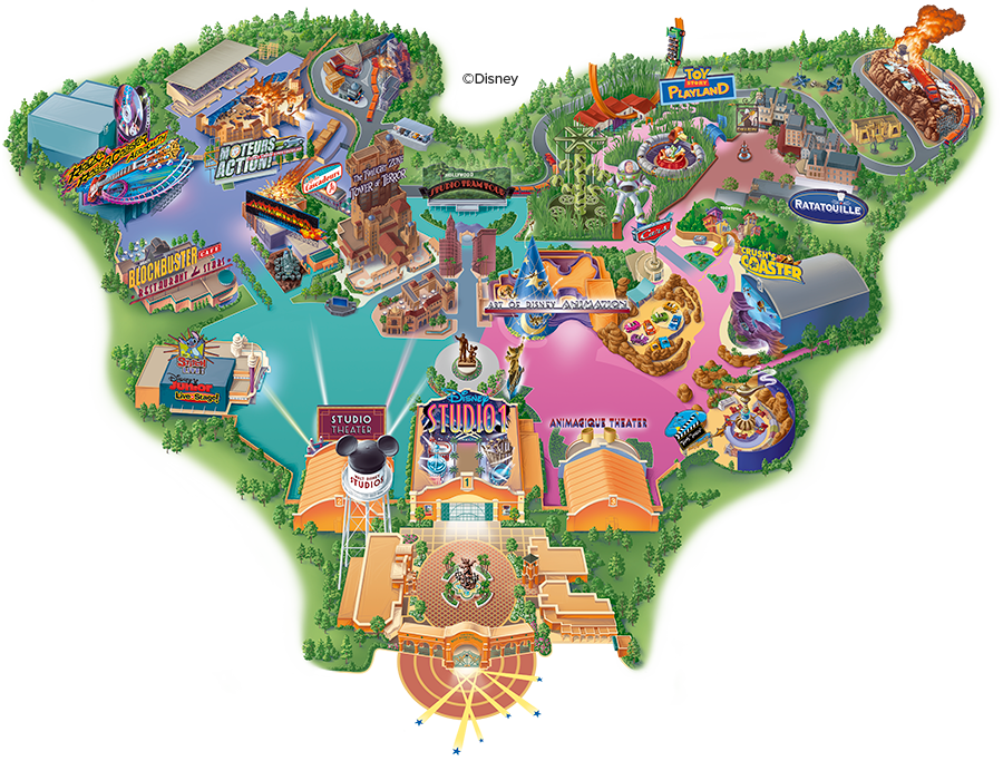 Map Disneyland Studio 950