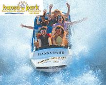 HansaParkSeikkailu ja jännitys odottavat sinua saksalaisessaHansaPark -huvipuistossa. Täällä on yli125 huvitusta- yli35 sellaista, joihin voit hypätä kyytiin! Avoinna: Maaliskuu - lokakuu.