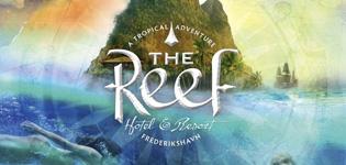 The Reef Hotel & Resort Frederikshavn Tropisk och karibisk badland med 32 graders värme och utomhus jacuzzi i Frederikshavn i Danmark. Öppetider: året om.