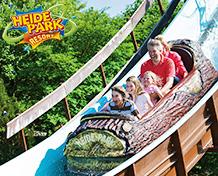 Heidepark Soltau Nord-Tysklands mest populære familiepark med vannattraksjoner, karuseller og show for alle aldre. Åpningstider:mars - november.