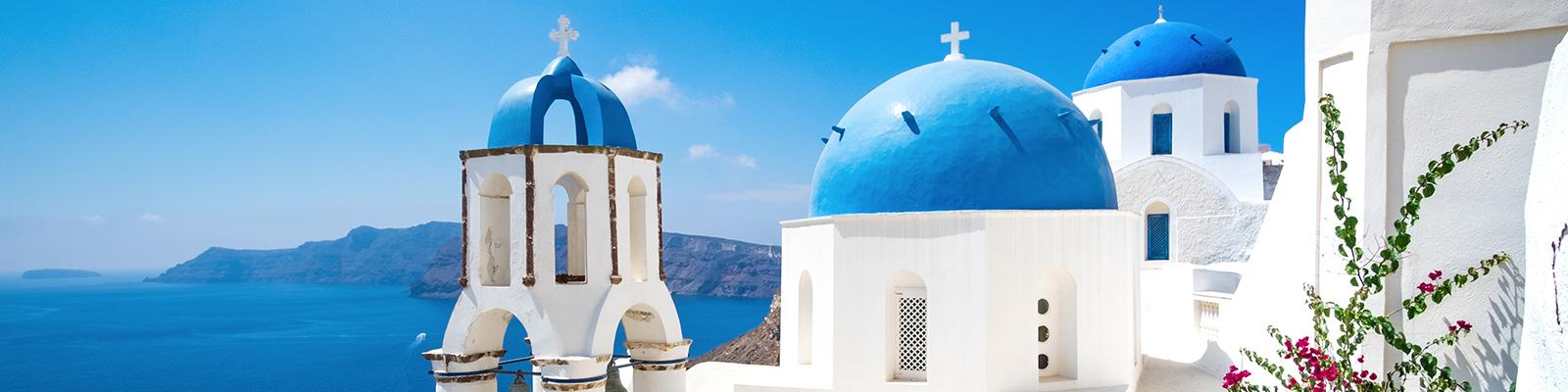 Underbara GreklandKritvita hus med blå tak blandas med sandstränder, klippor och fantastisk mat.