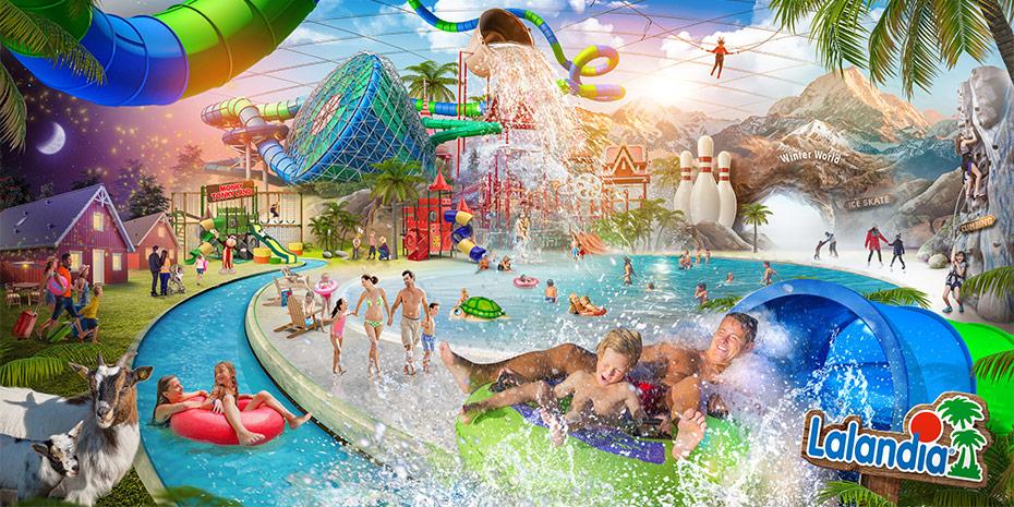 Lalandia Billund, LEGOLAND® BillundSkandinaviens största badland nära LEGOLAND®. Lalandia Billund erbjuder massor av roliga aktiviteter för hela familjen. Här finns Skandinaviens största Aquadome med tropiskt badland där du kan njuta av härlig strand, kristallklart vatten, sol och värme, svajande palmer och sköna liggstolar året om.