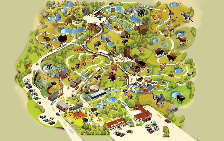 karta över lalandia billund Givskud Zoo   Givskud Zoo har mer än 700 djur karta över lalandia billund